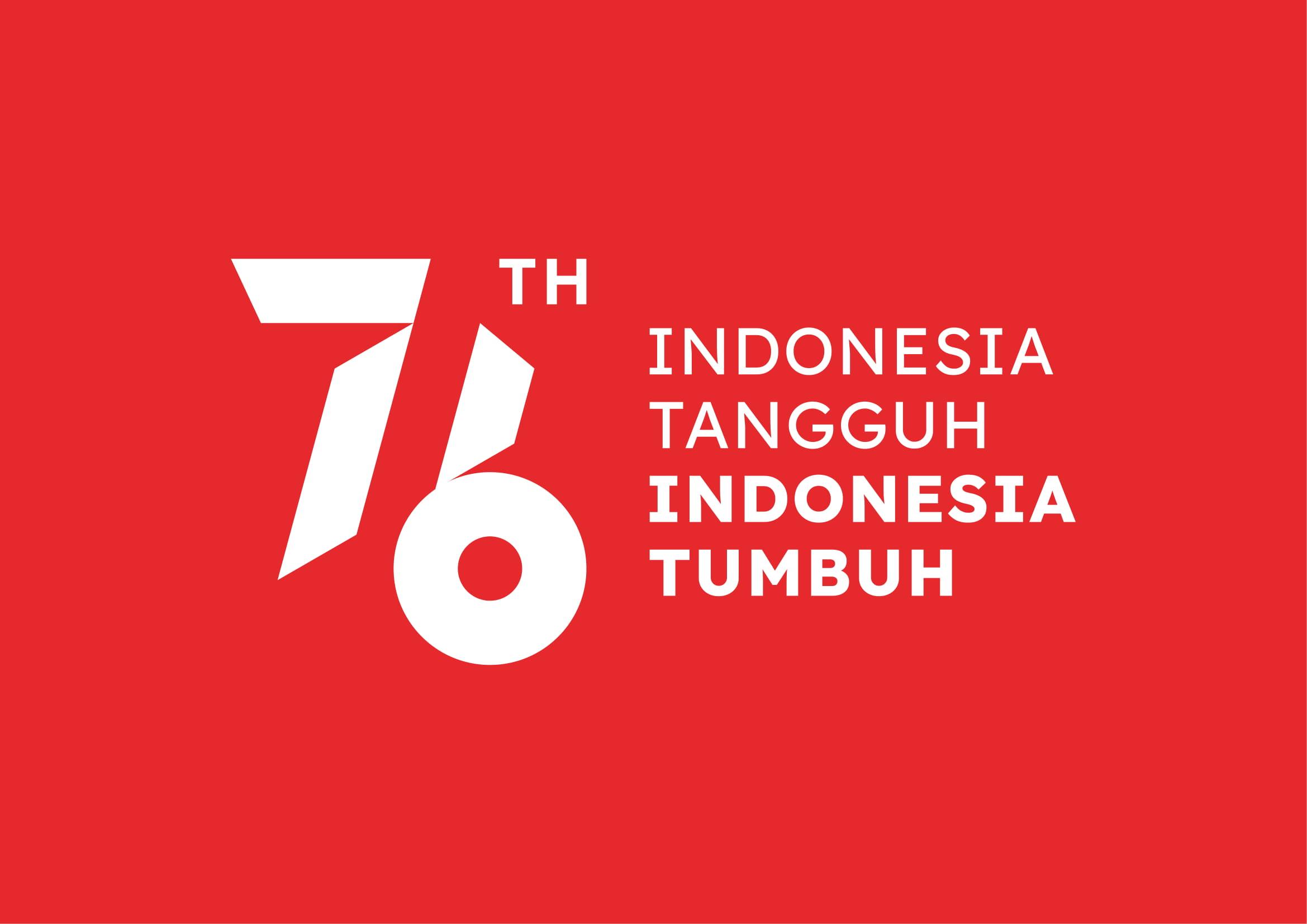 Logo HUT RI ke-76